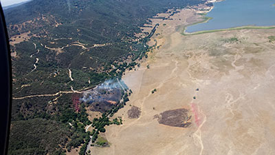 Cal Fire over North Fire
