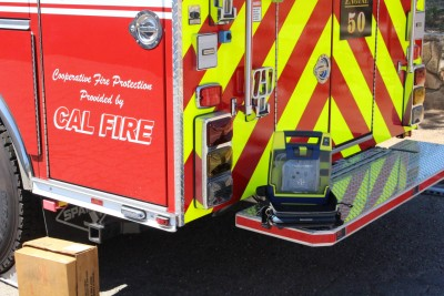 Defibrillator Mounted On San Diego County Fire Authority Engine
