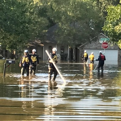 CA-TF8 in Harvey Floodwaters