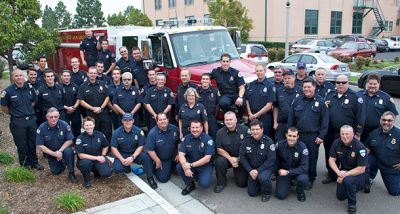 Firefighters throughout San Diego County