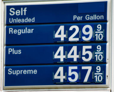 High Gas prices make refuelling trucks expensive