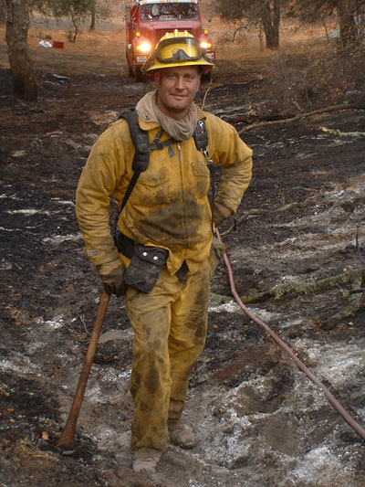Firefighter at Cedar Fire